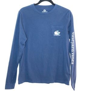 Vinyard Vines kids navy blue long sleeve shirt